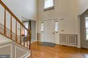 Entryway with wainscoting - 58 BALDWIN DR, FREDERICKSBURG