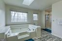 Master bath with skylights and new flooring - 58 BALDWIN DR, FREDERICKSBURG