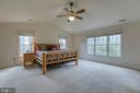 Spacious master bedroom with vaulted ceilings - 58 BALDWIN DR, FREDERICKSBURG