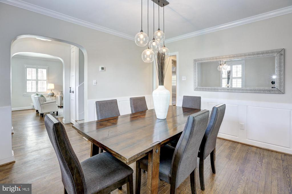 Formal Dining Room with custom millwork - 2366 N OAKLAND ST, ARLINGTON