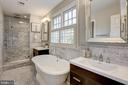 Carrera Marble, separate shower and water closet - 2366 N OAKLAND ST, ARLINGTON