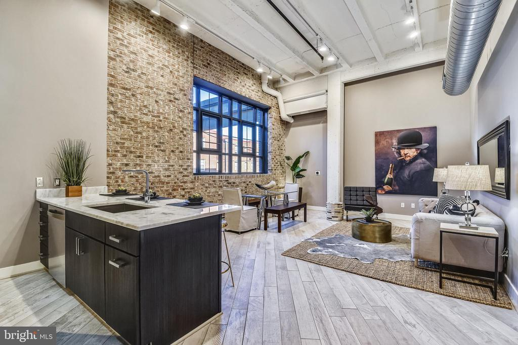 Open Concept Living and Dining - 1701 KALORAMA RD NW #314, WASHINGTON