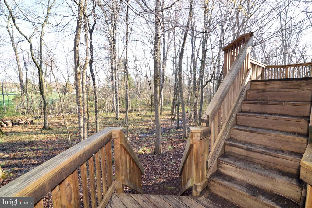 Deck stairs to back yard - 1439 HARLE PL SW, LEESBURG