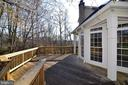 Another view of deck - 1439 HARLE PL SW, LEESBURG