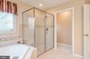 Master suite glass shower & water closet - 28 FIREBERRY BLVD, STAFFORD