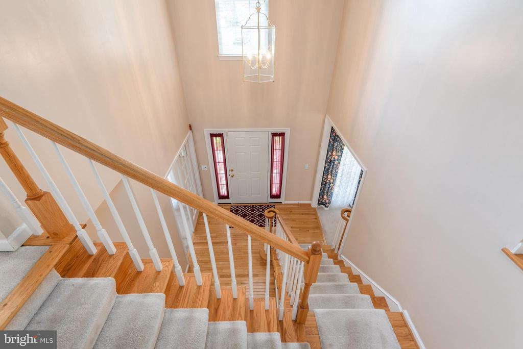 View from upper level to foyer - 28 FIREBERRY BLVD, STAFFORD