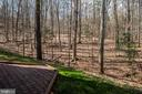 Backyard view to property tree line - 28 FIREBERRY BLVD, STAFFORD