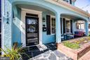 Attractive, functional front porch - 1104 PRINCE EDWARD ST, FREDERICKSBURG