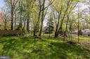 backyard - 7627 LISLE AVE, FALLS CHURCH