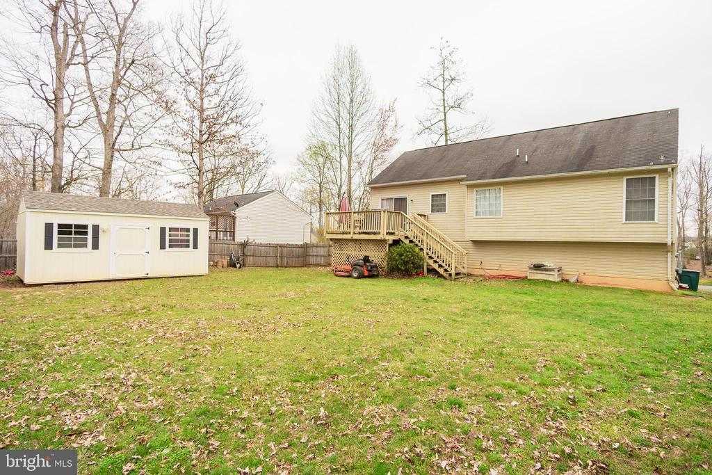 10x16 shed with electric - cable ready , Rear Deck - 36009 WILDERNESS SHORES WAY, LOCUST GROVE