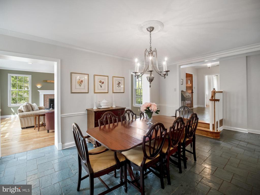 Dining room opens to the family room. - 915 MCCENEY AVE, SILVER SPRING