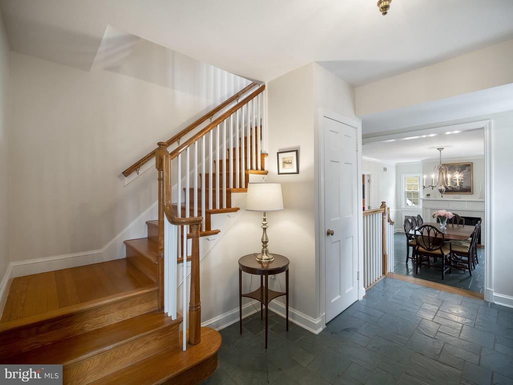 Foyer with slate floor (over hardwood) - 915 MCCENEY AVE, SILVER SPRING