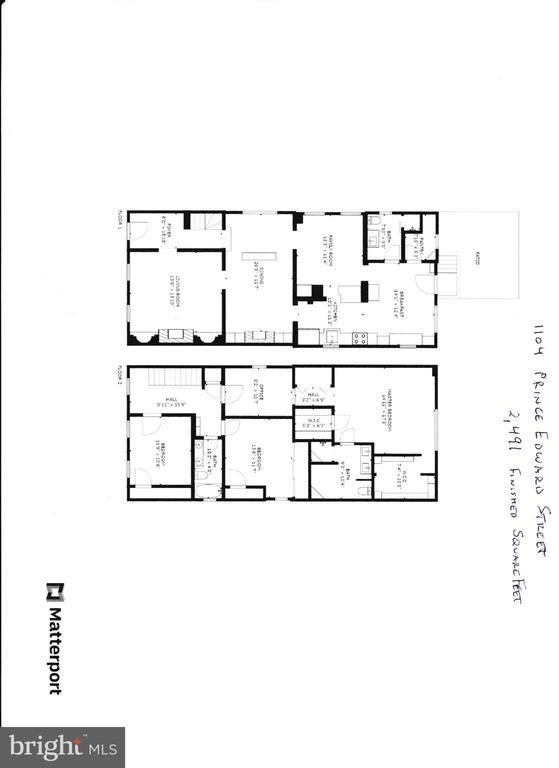Floor Plans - 1104 PRINCE EDWARD ST, FREDERICKSBURG