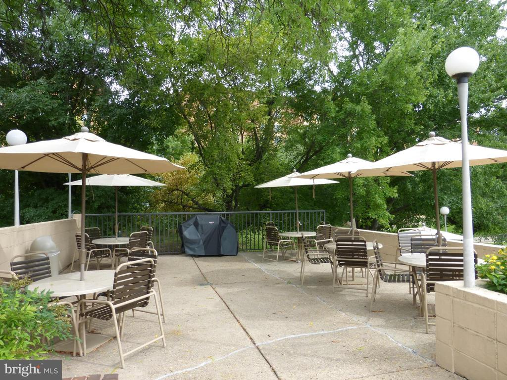 Relax on the pool patio with grill & tables - 1300 ARMY NAVY DR #1012, ARLINGTON