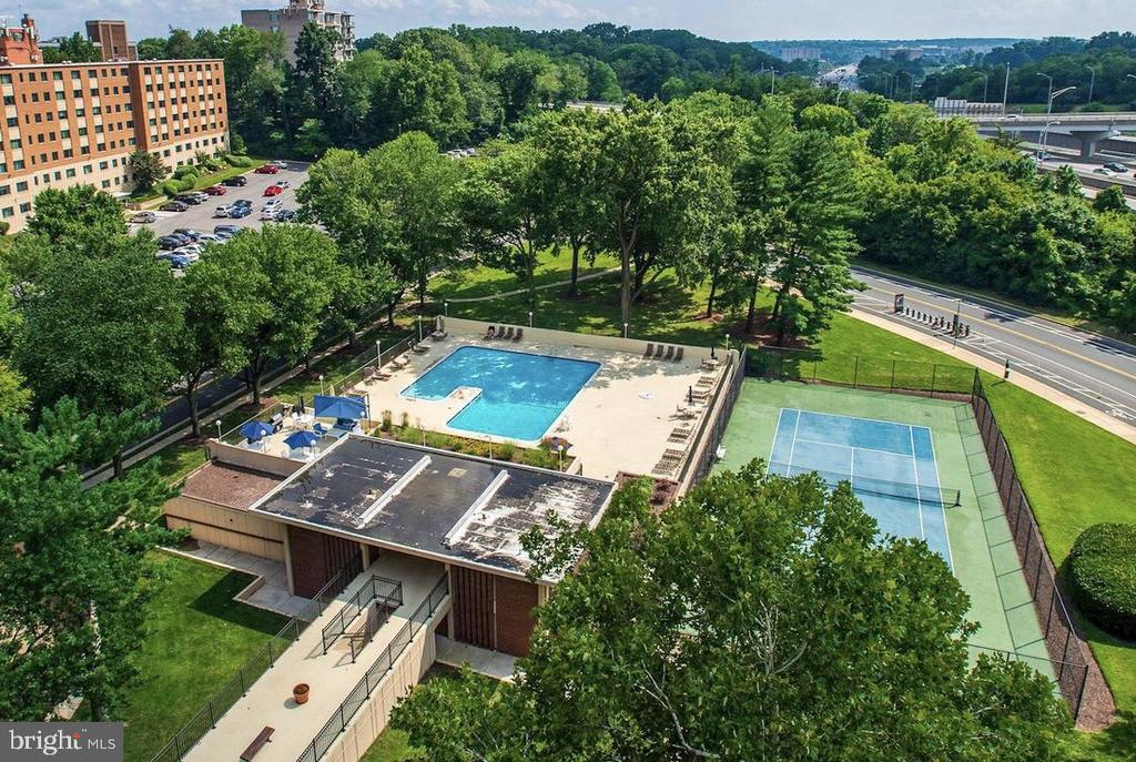 Amenities include Pool and Tennis Court - 1300 ARMY NAVY DR #1012, ARLINGTON