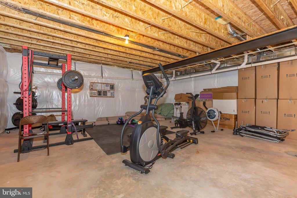 LARGE unfinished basement with rough in. - 14515 FALCONAIRE PL, LEESBURG