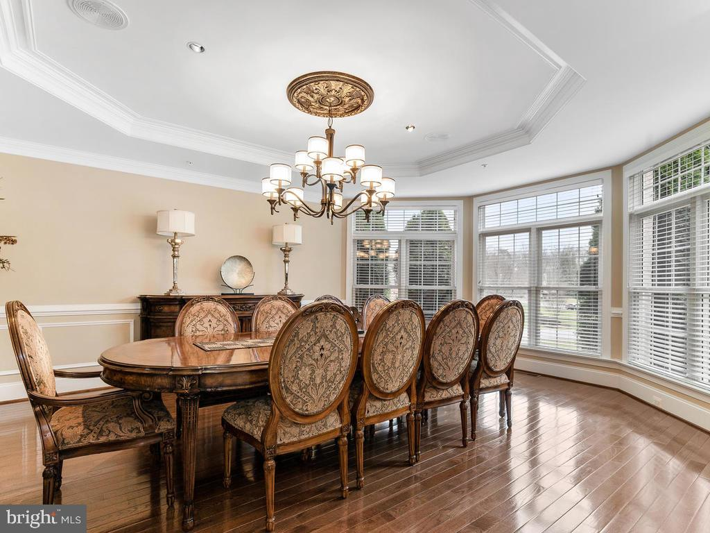 DINING ROOM /MULTIPLE LAYERS OF  CUSTOM MOLDINGS - 10801 WINDCLOUD CT, OAKTON