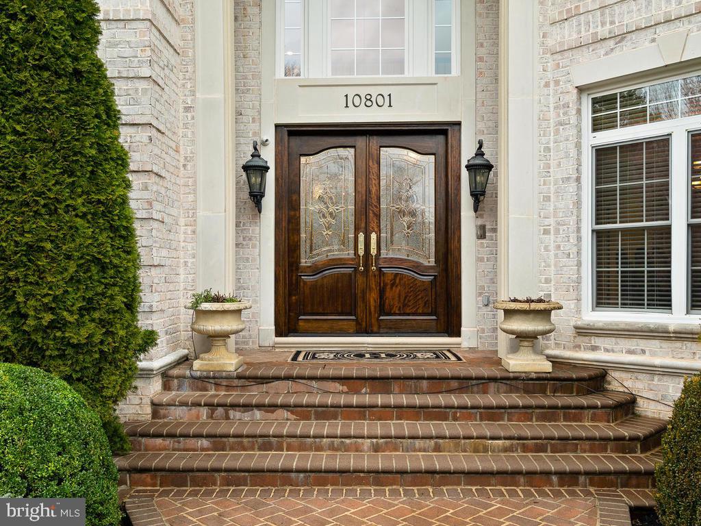 CUSTOM BRICK STAIRS + CUSTOM DOOR($15,000) - 10801 WINDCLOUD CT, OAKTON