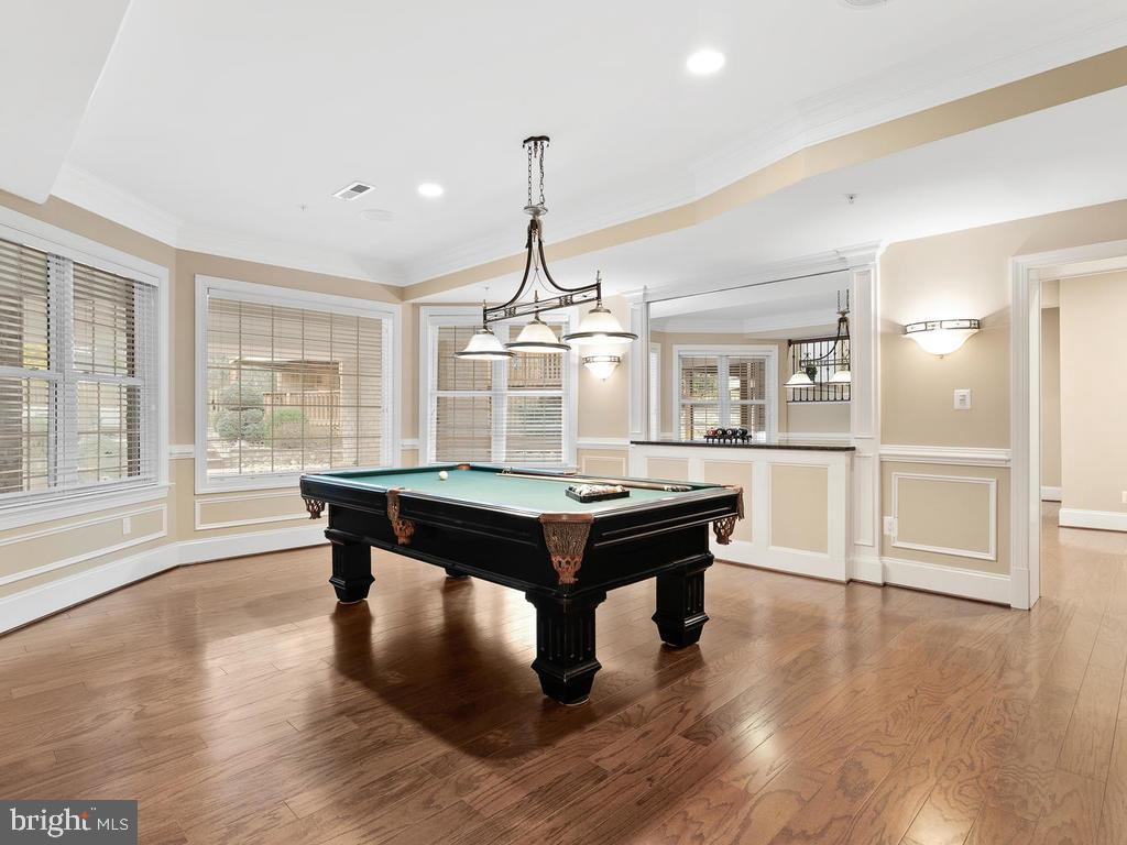POOL TABLE ROOM WITH BUILT IN WALL MIRROR /MOLDING - 10801 WINDCLOUD CT, OAKTON