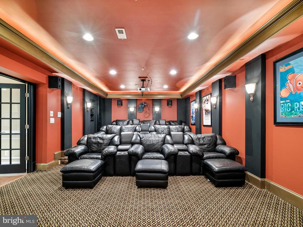 BASEMENT MOVIE THEATER ROOM - 10801 WINDCLOUD CT, OAKTON