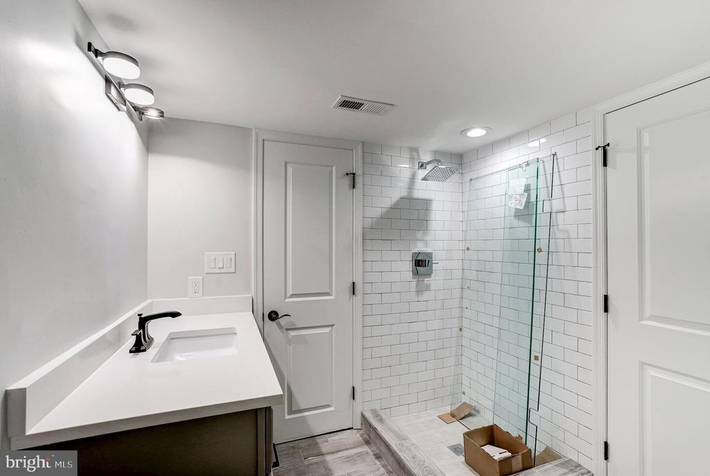 Lower Level Bathroom - 207 VARNUM ST NW, WASHINGTON