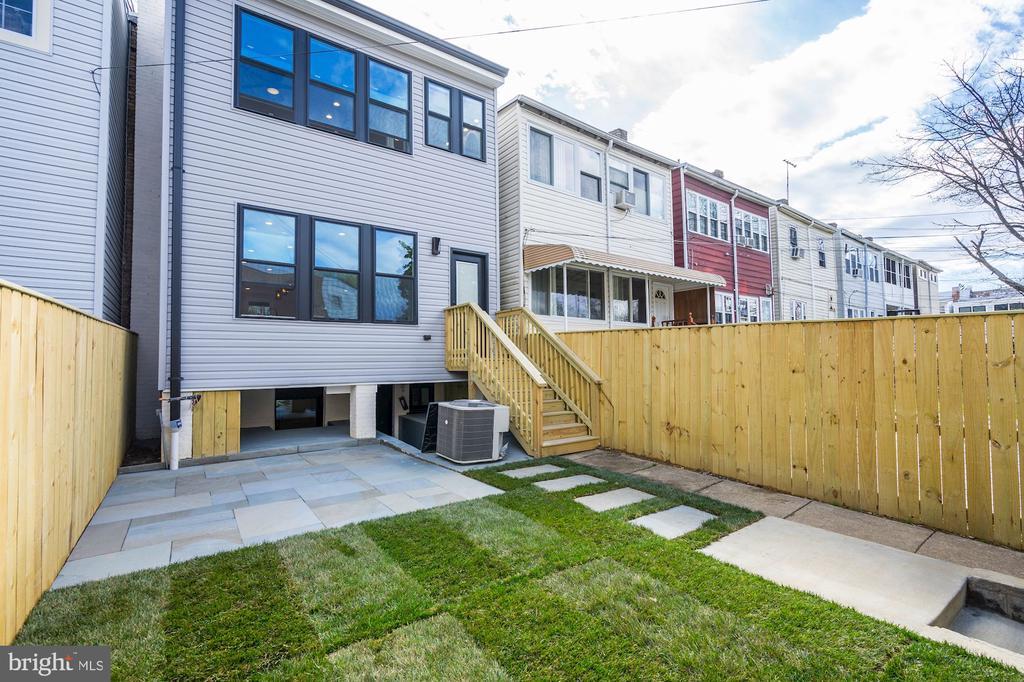 Newly Fenced Backyard - 207 VARNUM ST NW, WASHINGTON