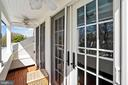 4th Floor balcony overlooking garden - 320 N PATRICK ST, ALEXANDRIA