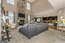 Family Room shown with optional Stone Fireplace - 307 NICHOLAS HALL ST, NEW MARKET