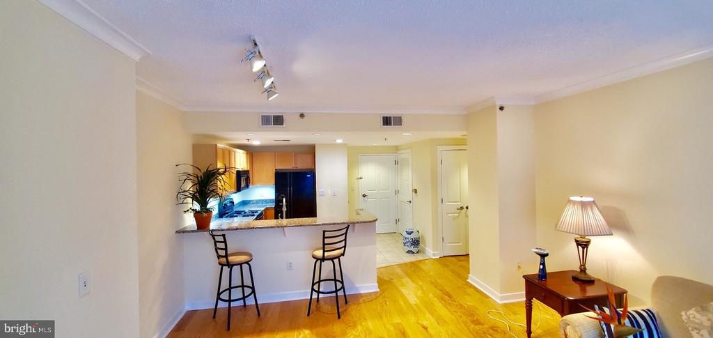 Recessed lights replaced wooden box in kitchen - 777 7TH ST NW #518, WASHINGTON