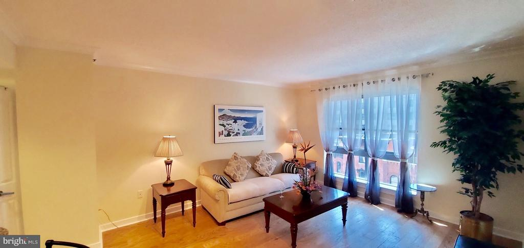 Curtains is white/grey variations - 777 7TH ST NW #518, WASHINGTON