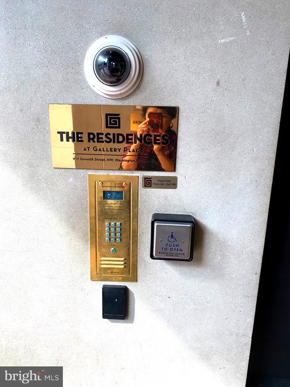 Secured digital locks at front entrance . - 777 7TH ST NW #518, WASHINGTON