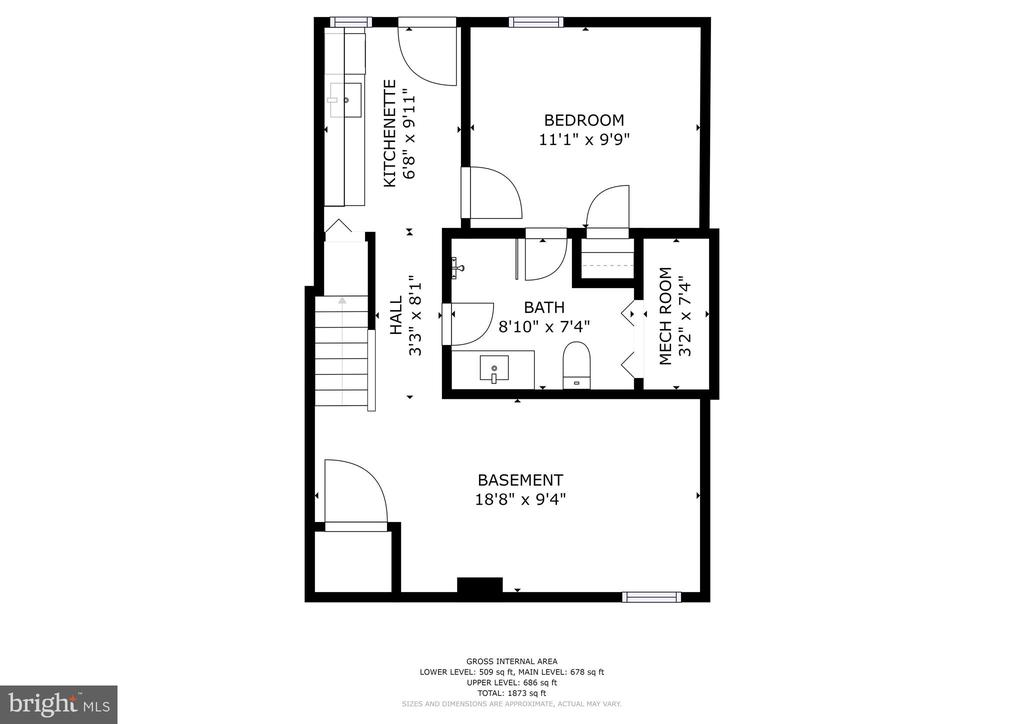 Lower Level Floor Plan - 207 VARNUM ST NW, WASHINGTON