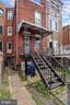 rear porch - 1009 OTIS PL NW, WASHINGTON