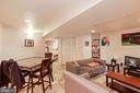 Lower Level dining area - 1009 OTIS PL NW, WASHINGTON