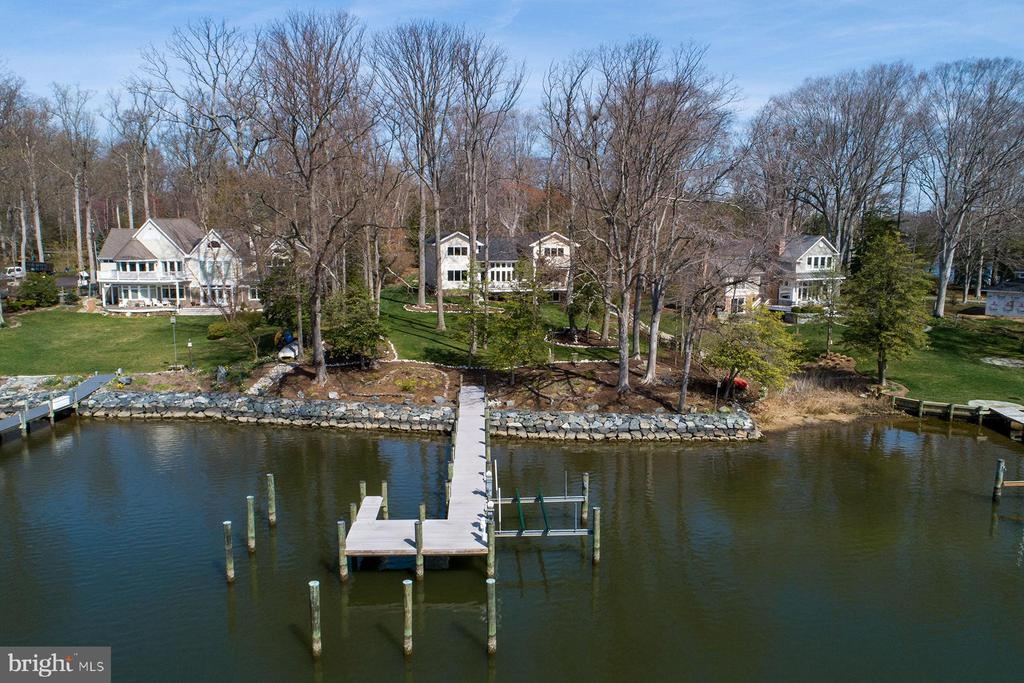 Aerial view of the property from Ridout Creek - 1696 BEECH LN, ANNAPOLIS