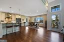 Kitchen opens to the dining area with views - 1696 BEECH LN, ANNAPOLIS