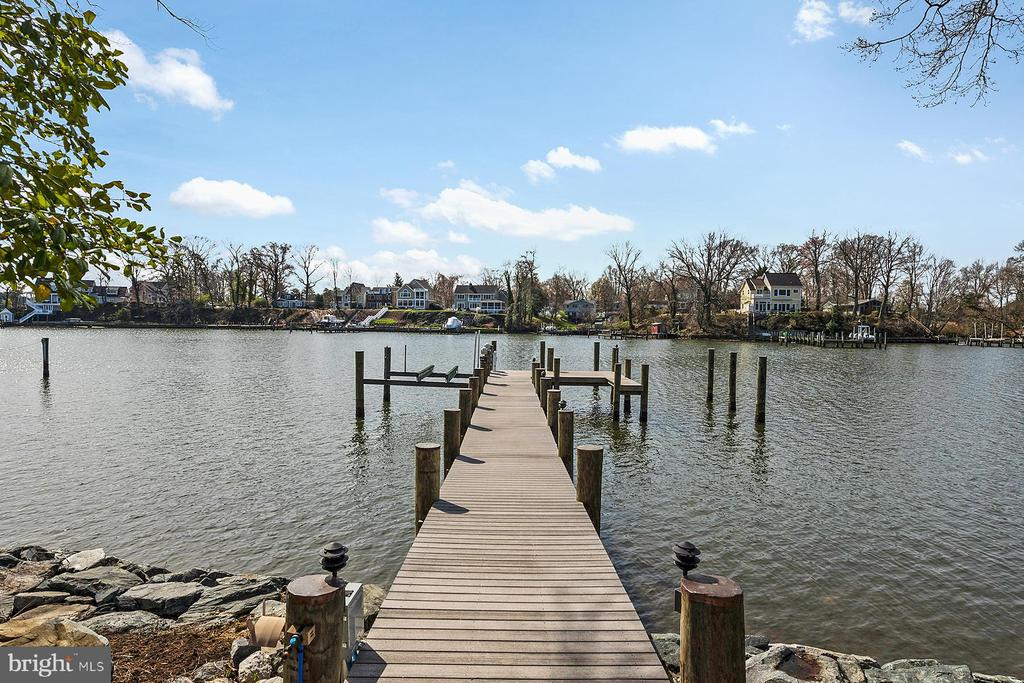 Private, deep-water pier - 1696 BEECH LN, ANNAPOLIS