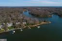 Aerial view of property with Whitehall Creek behin - 1696 BEECH LN, ANNAPOLIS
