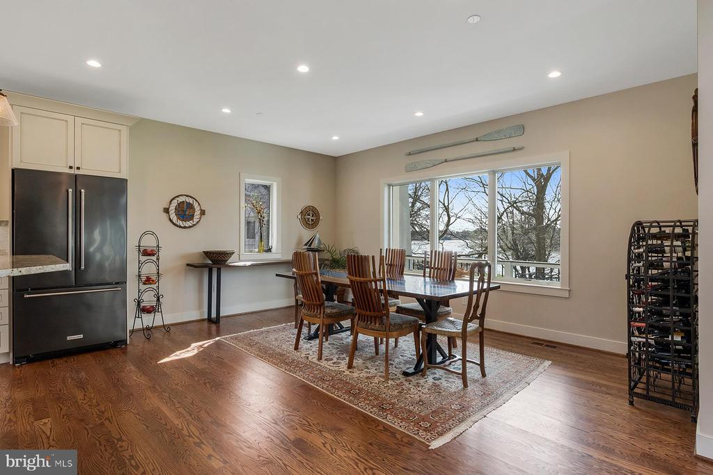 Dining area can accommodate a large dining table - 1696 BEECH LN, ANNAPOLIS