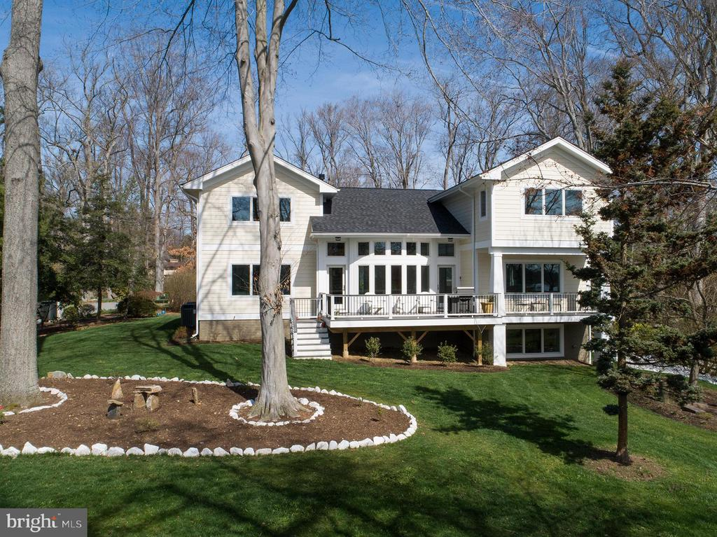 Waterside of the home with mature landscaping - 1696 BEECH LN, ANNAPOLIS