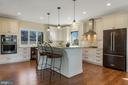 Gourmet kitchen with honed marble backsplash - 1696 BEECH LN, ANNAPOLIS