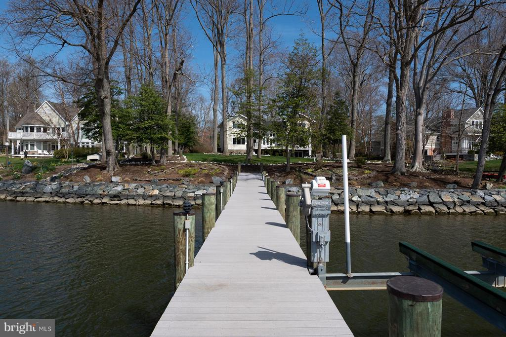 View of the home from the pier - 1696 BEECH LN, ANNAPOLIS