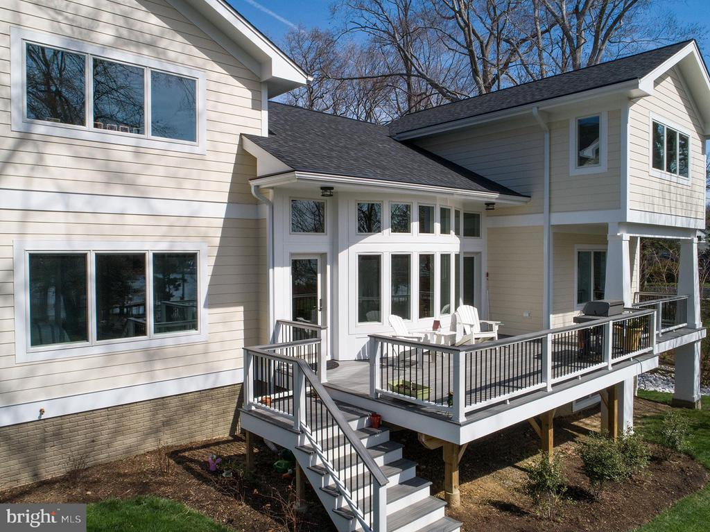View of waterside deck including a grilling space - 1696 BEECH LN, ANNAPOLIS