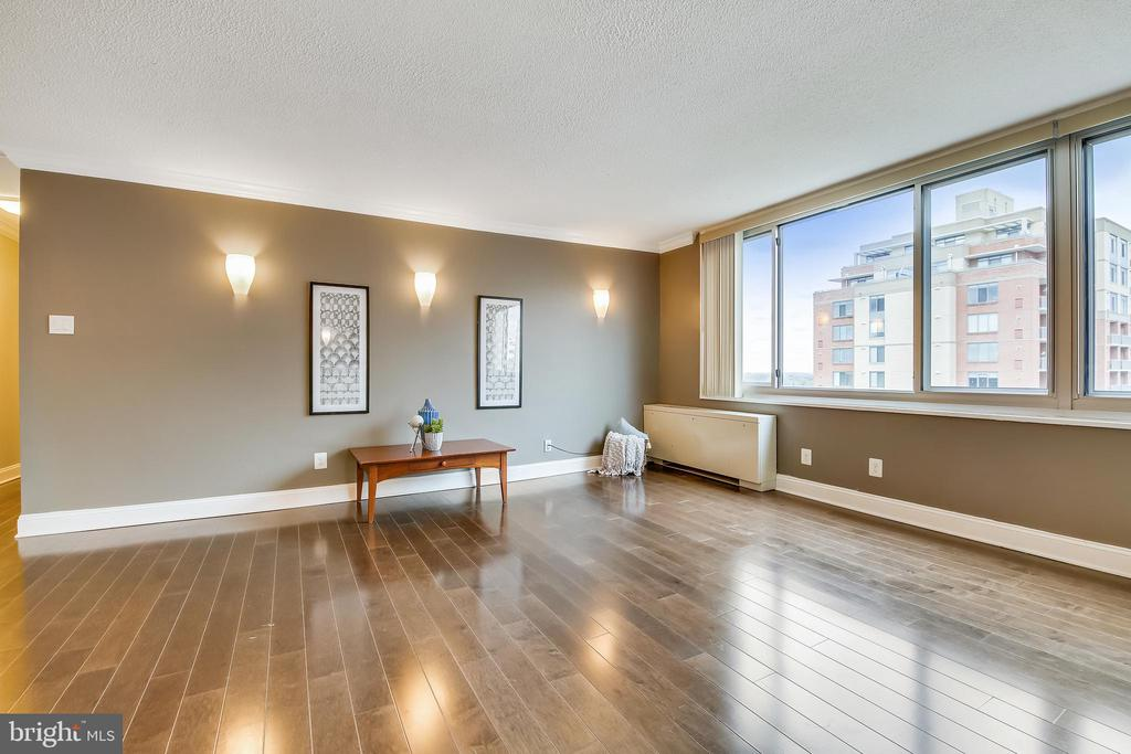 Sunny Living Room - 11801 ROCKVILLE PIKE #1405, ROCKVILLE