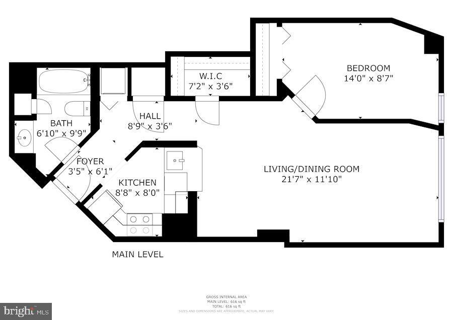 Floor Plan - 601 PENNSYLVANIA AVE NW #211, WASHINGTON