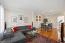 Living Room w/ Gas Fireplace - 308 S PAYNE ST, ALEXANDRIA