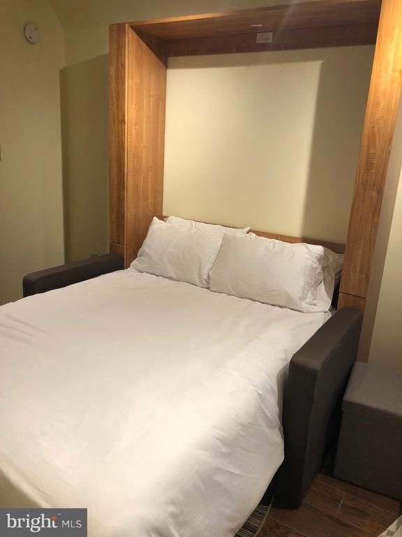 Murphy bed pulled down - 11 2ND ST NE #104, WASHINGTON