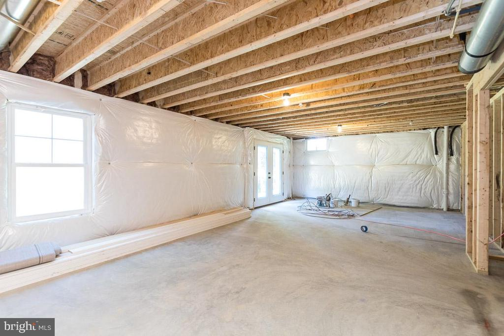 Unfinished basement - full walk-out. - 3012 (LOT 3) THURSTON RD., FREDERICK