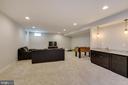 Lower level Recreation Room with wet bar - 20240 MCNAMARA RD, POOLESVILLE