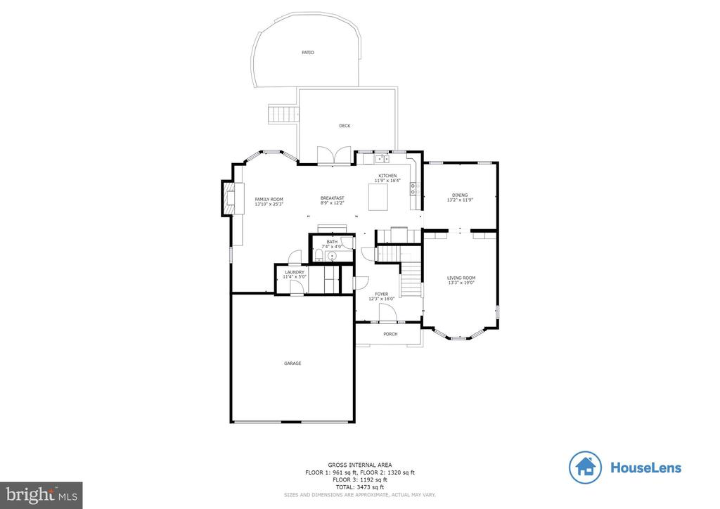 Main Level  Floor Plan - 16731 TINTAGEL CT, DUMFRIES